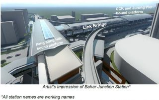Jurong West Station Image - from LTA website press release on 9 December SNIPPED IMAGE