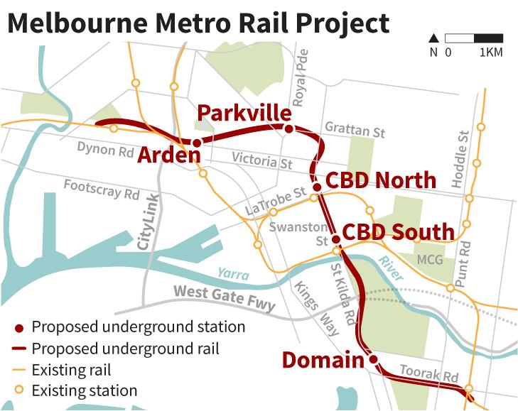 melbourne metro tunnel construction consortium named