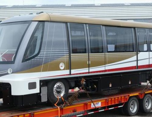 Bombardier's first APM for Bangkok's new Gold Line arrives in Thailand