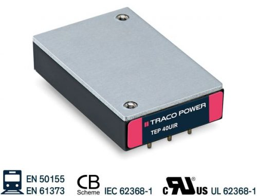 TEP 40/60UIR Series- 40 and 60 Watt railway approved DC/DC converters with ultra wide 12:1 input voltage range